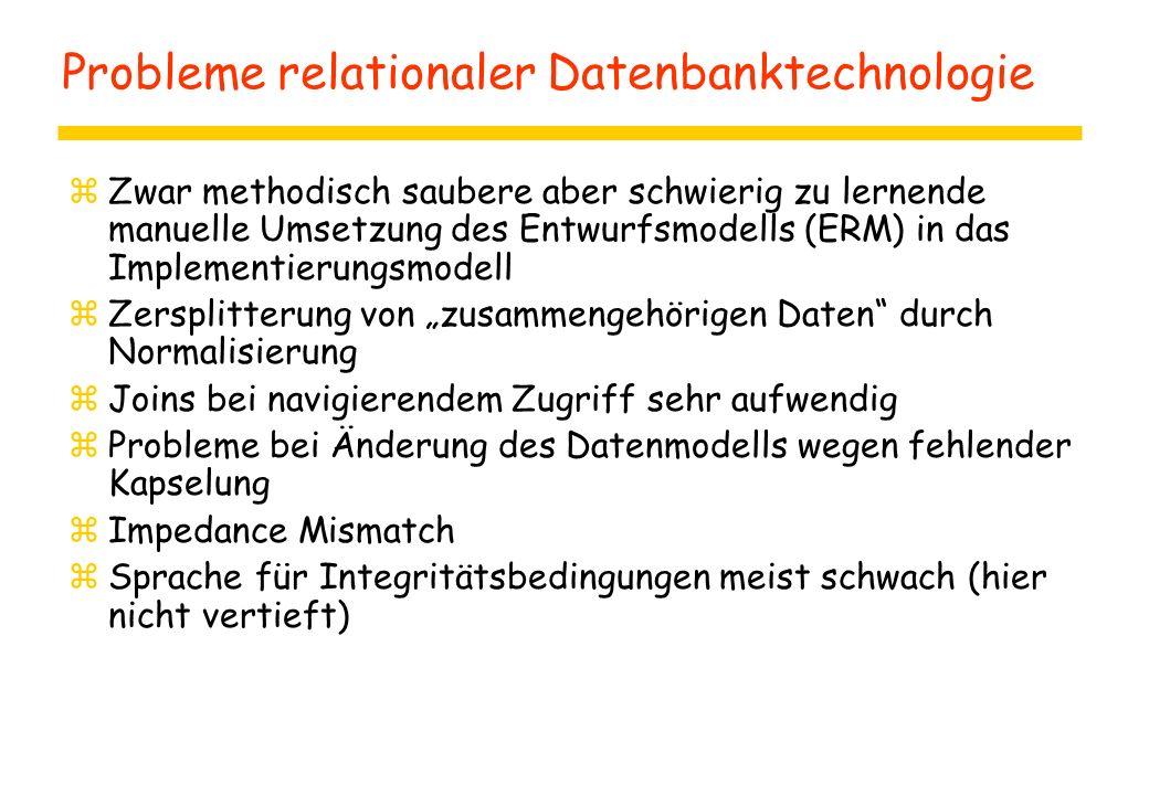 Probleme relationaler Datenbanktechnologie