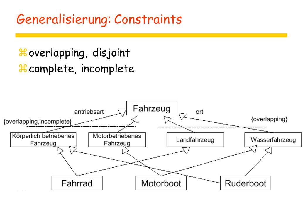 Generalisierung: Constraints