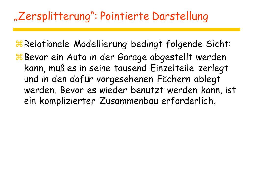"""""""Zersplitterung : Pointierte Darstellung"""