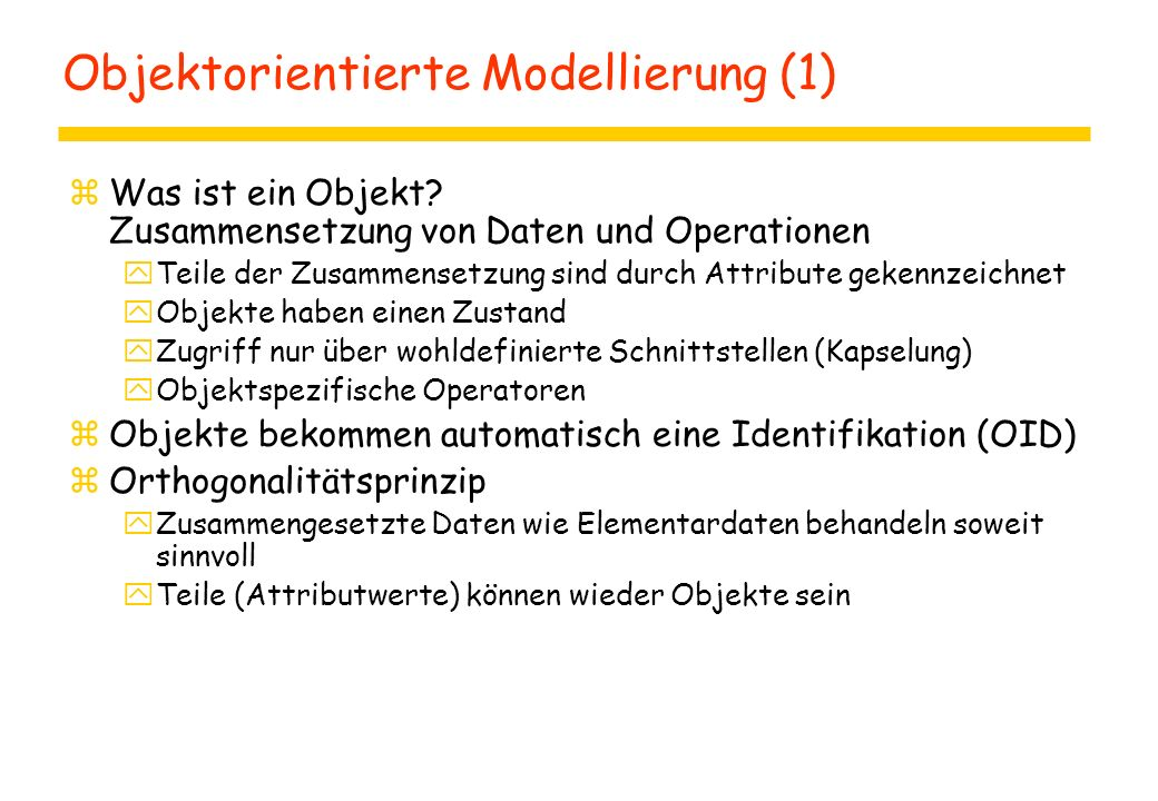 Objektorientierte Modellierung (1)