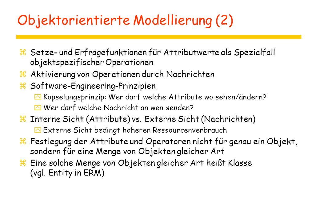 Objektorientierte Modellierung (2)