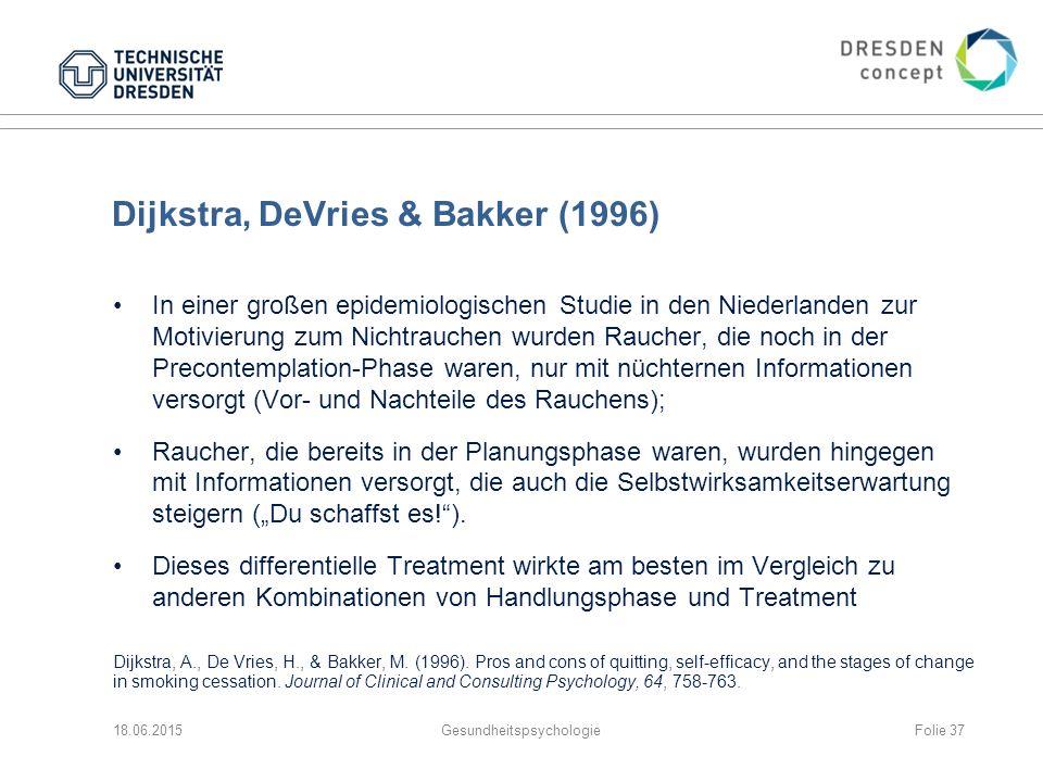 Dijkstra, DeVries & Bakker (1996)