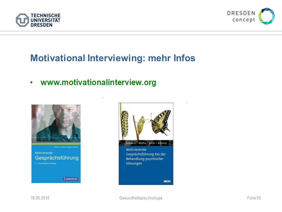 Motivational Interviewing: mehr Infos