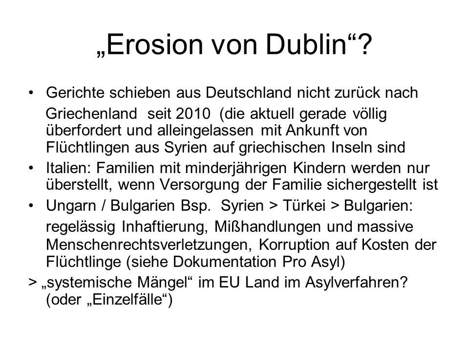 """""""Erosion von Dublin Gerichte schieben aus Deutschland nicht zurück nach."""