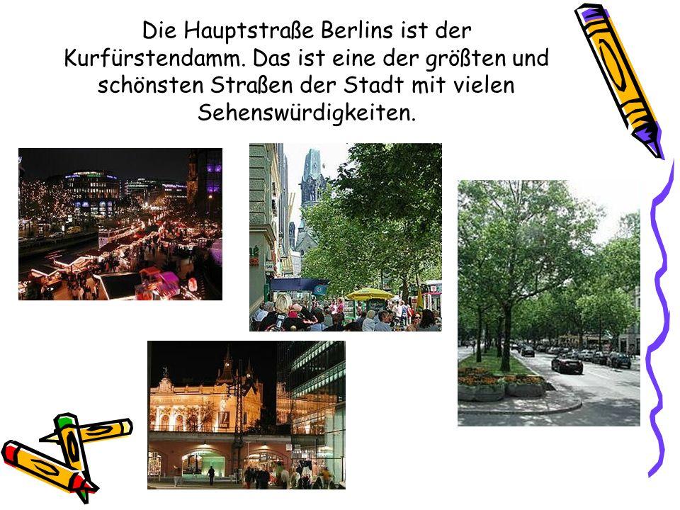 Die Hauptstraße Berlins ist der Kurfürstendamm