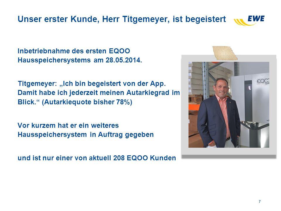 Unser erster Kunde, Herr Titgemeyer, ist begeistert