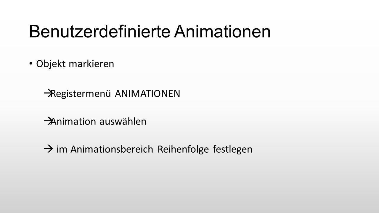 Benutzerdefinierte Animationen