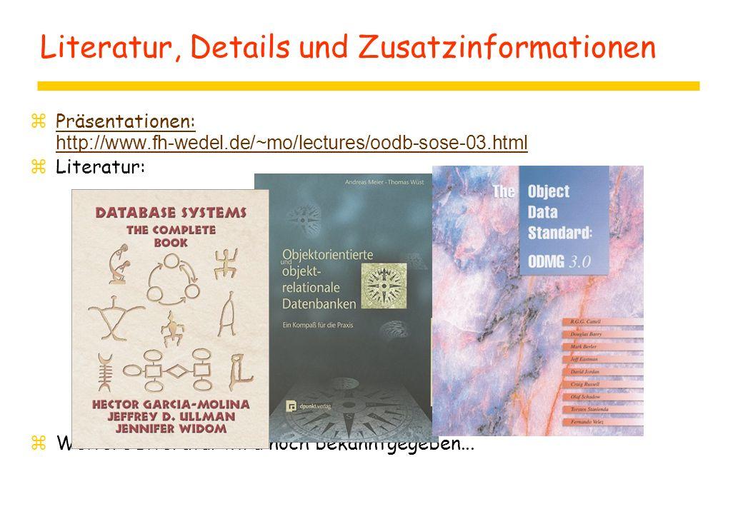 Literatur, Details und Zusatzinformationen