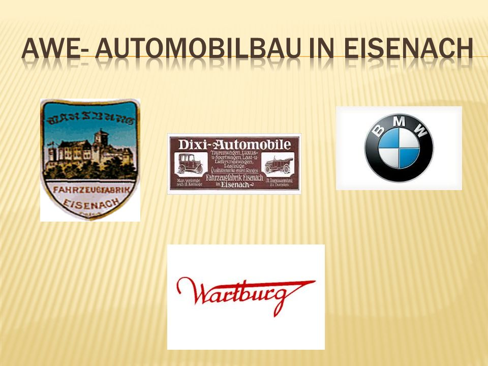 AwE- Automobilbau in Eisenach