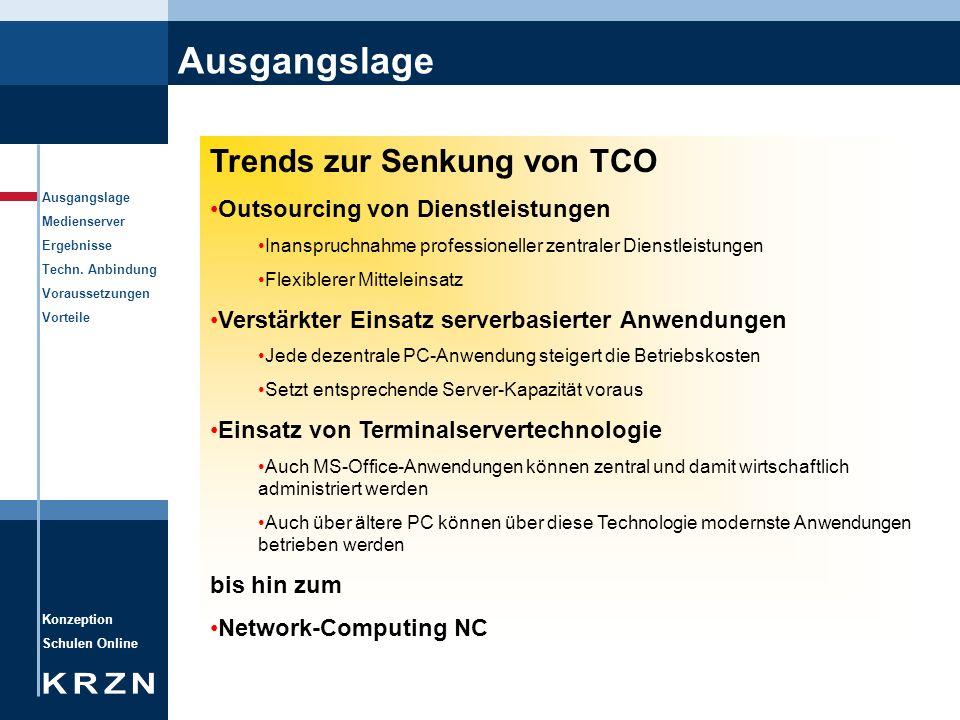 Ausgangslage Trends zur Senkung von TCO