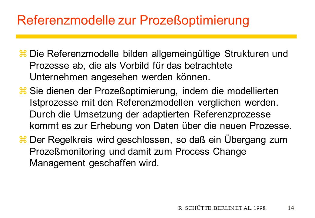Referenzmodelle zur Prozeßoptimierung