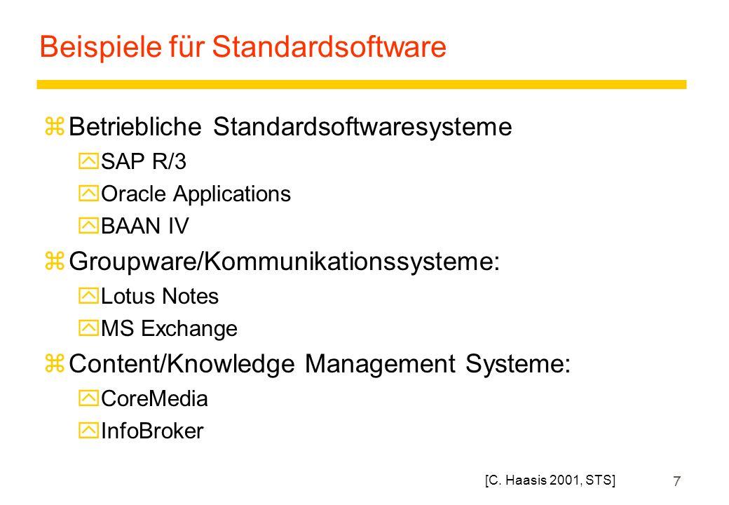 Beispiele für Standardsoftware
