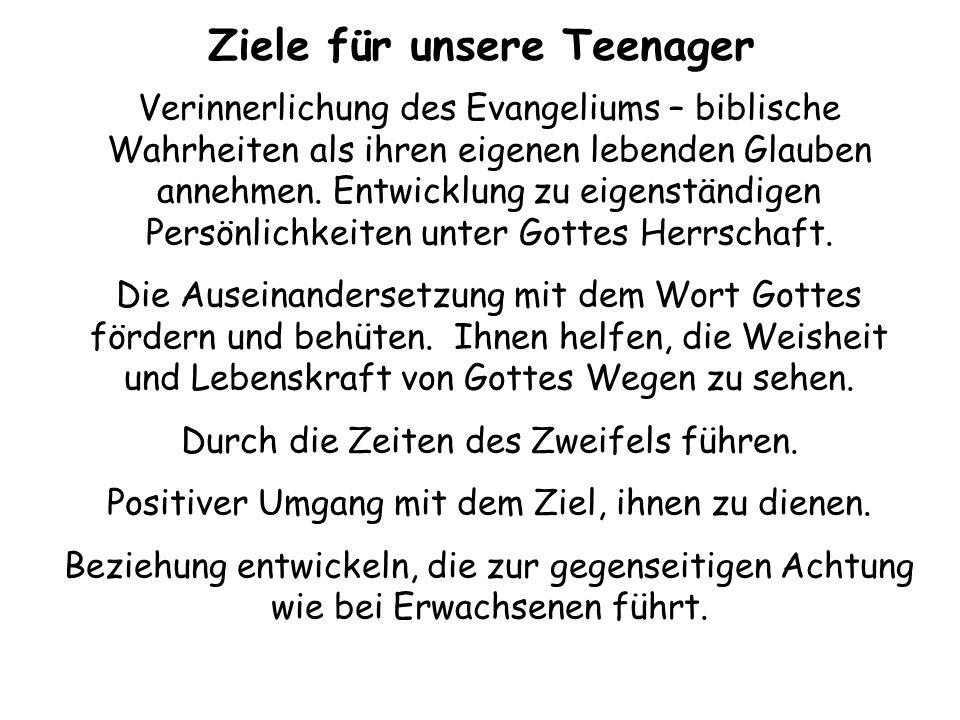 Ziele für unsere Teenager