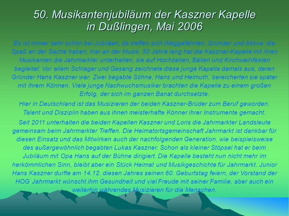50. Musikantenjubiläum der Kaszner Kapelle in Dußlingen, Mai 2006
