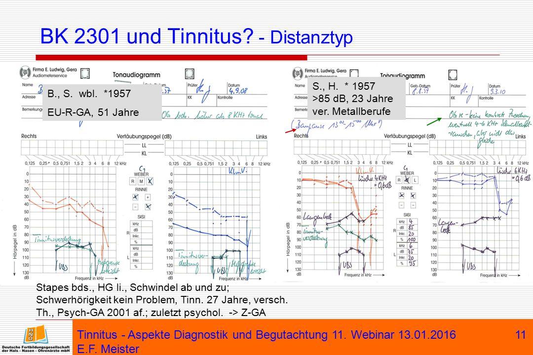 BK 2301 und Tinnitus - Distanztyp