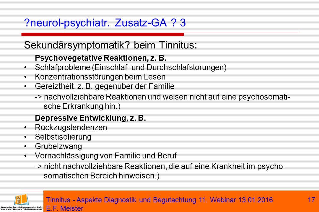 neurol-psychiatr. Zusatz-GA 3