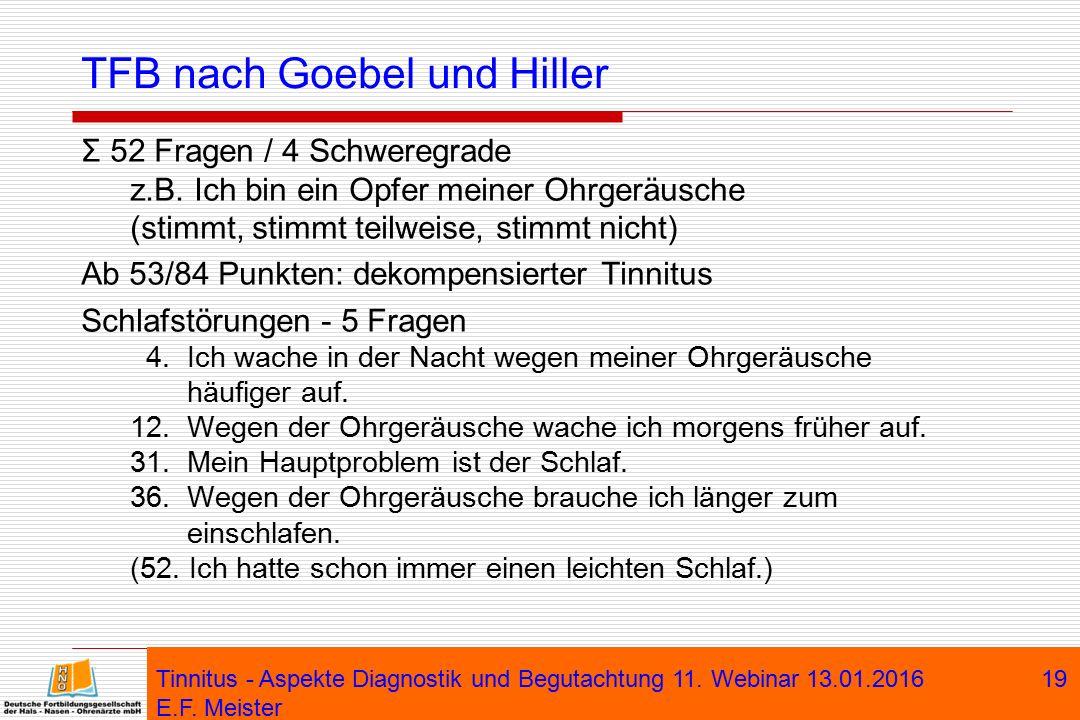 TFB nach Goebel und Hiller