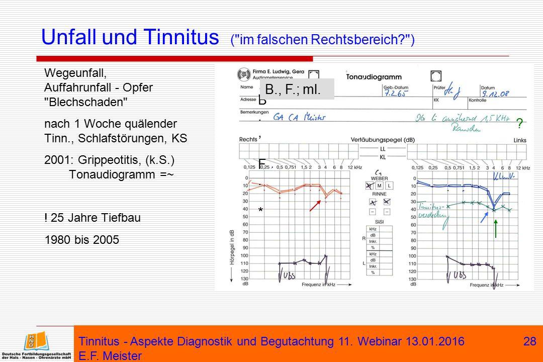 Unfall und Tinnitus ( im falschen Rechtsbereich )