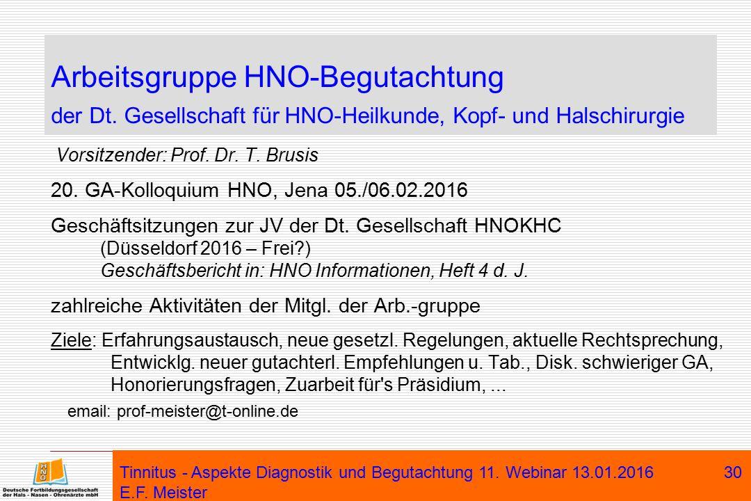 Arbeitsgruppe HNO-Begutachtung der Dt
