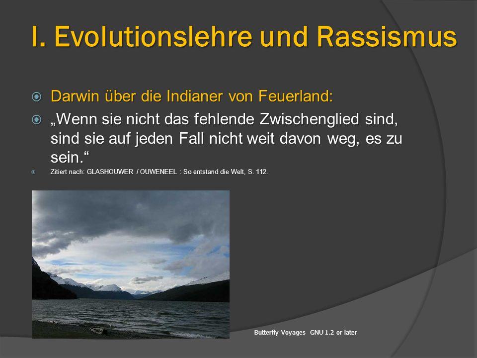 I. Evolutionslehre und Rassismus