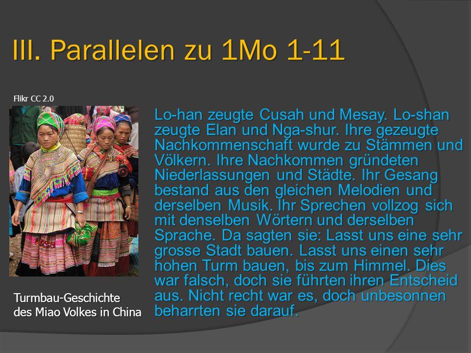 III. Parallelen zu 1Mo 1-11 Turmbau-Geschichte