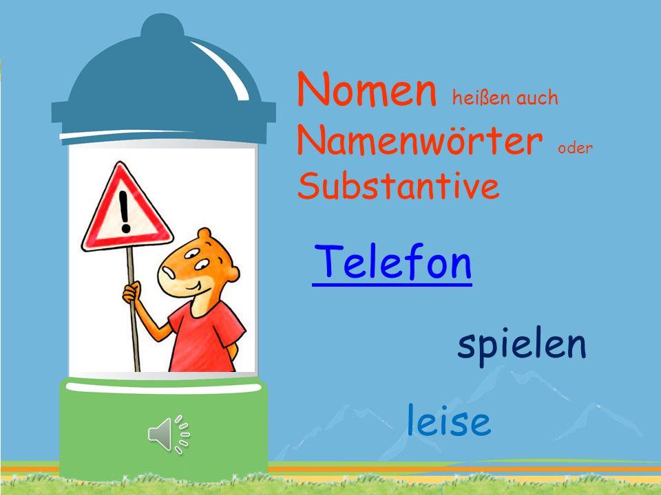 Nomen heißen auch Namenwörter oder Substantive