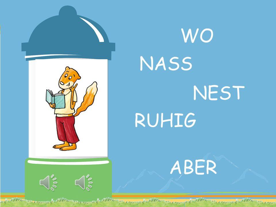 WO NASS NEST RUHIG ABER
