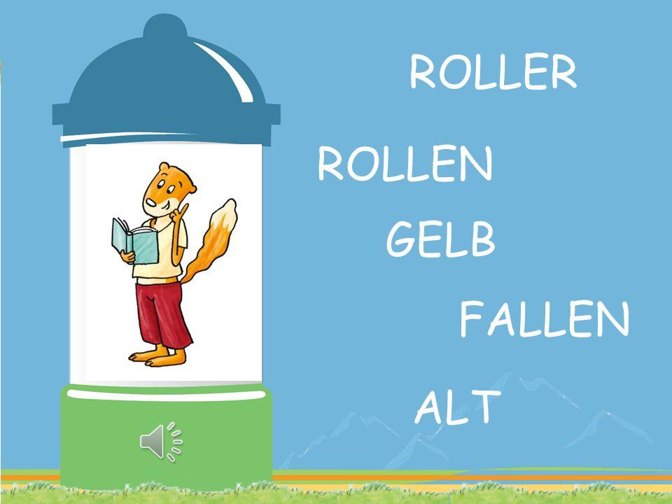 ROLLER ROLLEN GELB FALLEN ALT