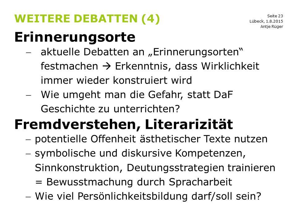 Fremdverstehen, Literarizität