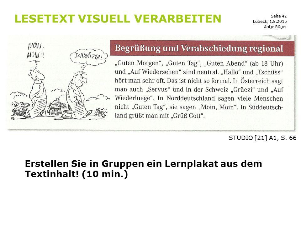 Lesetext visuell verarbeiten