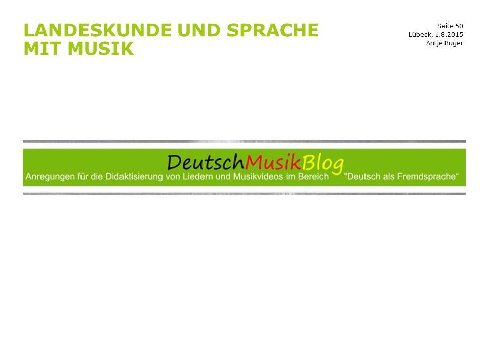 Landeskunde und Sprache mit Musik