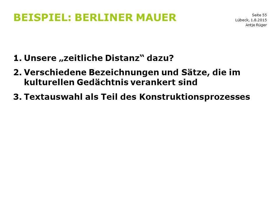 Beispiel: Berliner Mauer