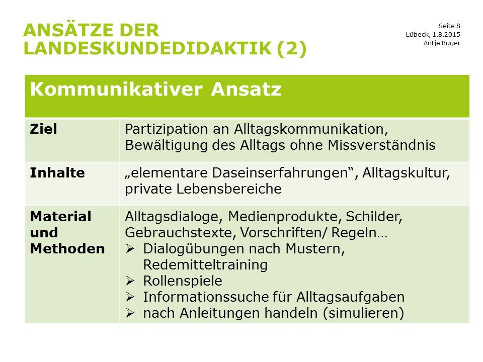 Ansätze der landeskundedidaktik (2)