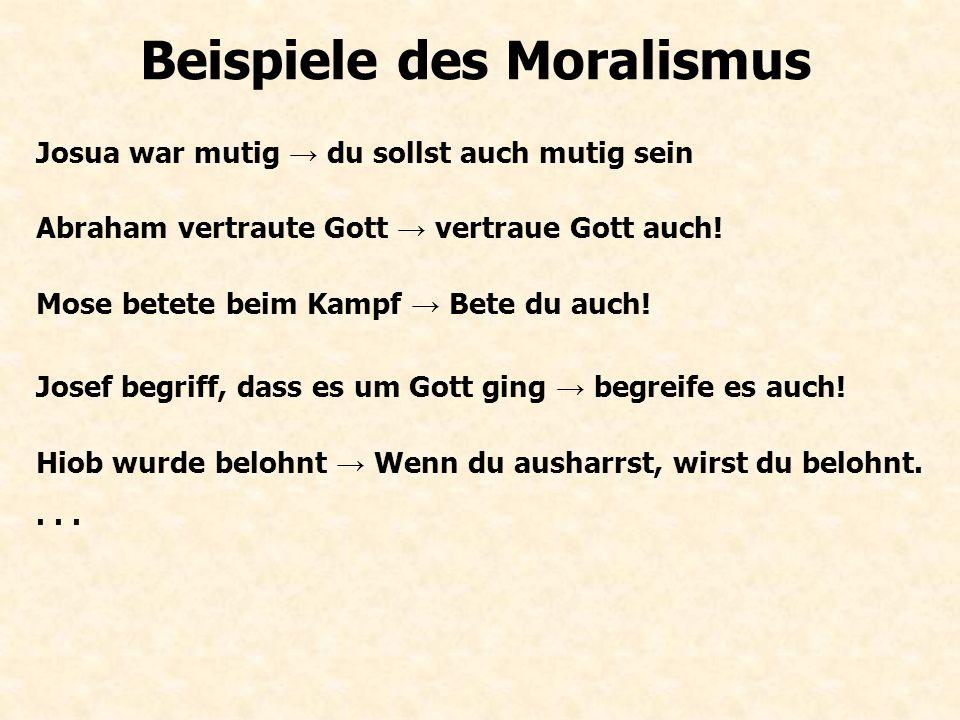 Beispiele des Moralismus