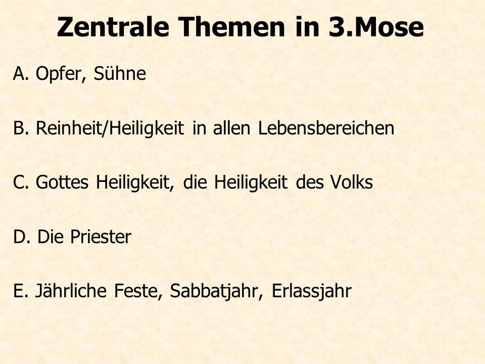 Zentrale Themen in 3.Mose
