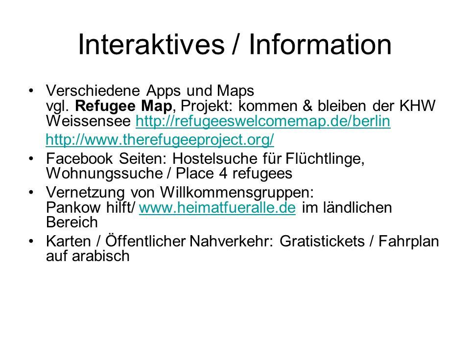 Interaktives / Information