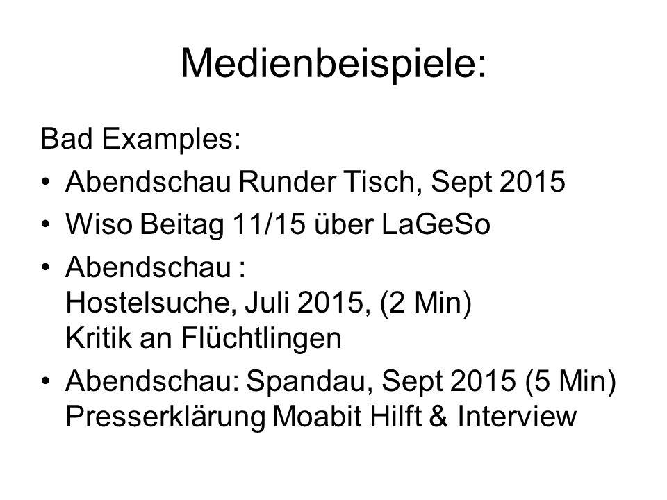 Medienbeispiele: Bad Examples: Abendschau Runder Tisch, Sept 2015
