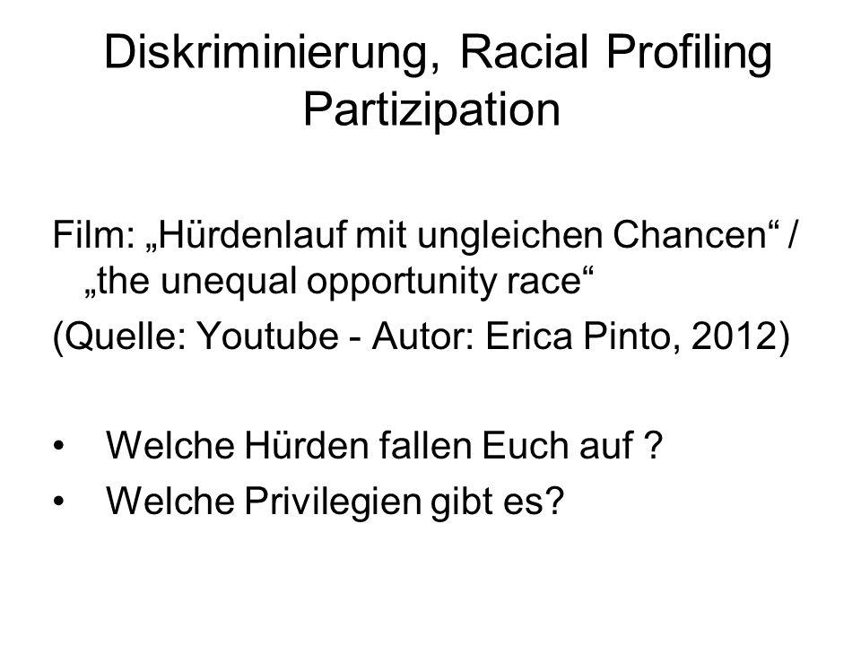 Diskriminierung, Racial Profiling Partizipation