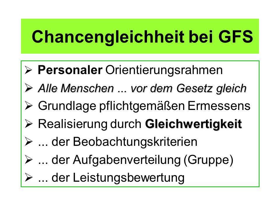 Chancengleichheit bei GFS