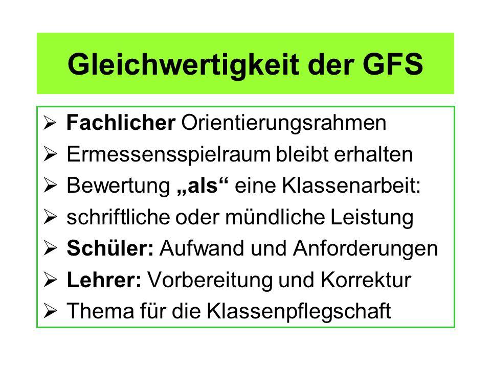 Gleichwertigkeit der GFS
