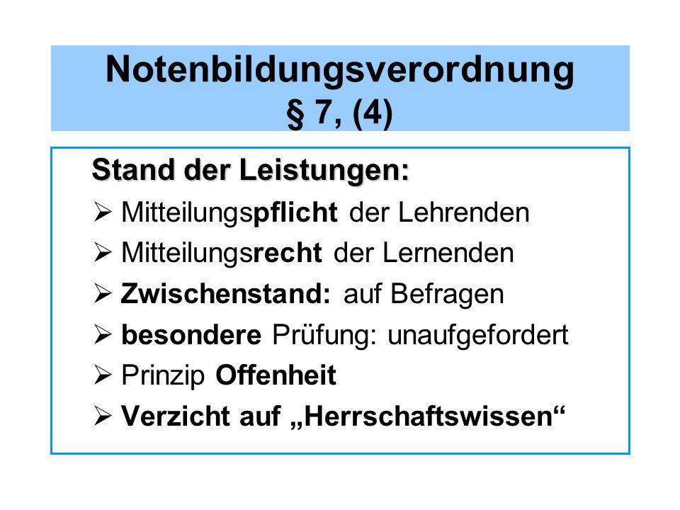 Notenbildungsverordnung § 7, (4)