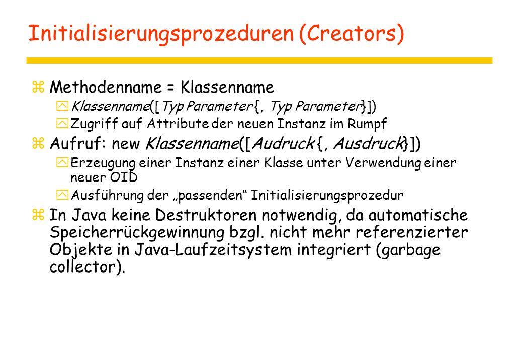 Initialisierungsprozeduren (Creators)