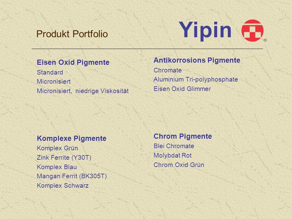 Produkt Portfolio Antikorrosions Pigmente Eisen Oxid Pigmente