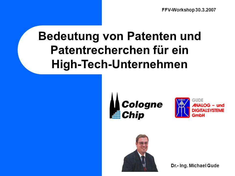 Bedeutung von Patenten und Patentrecherchen für ein
