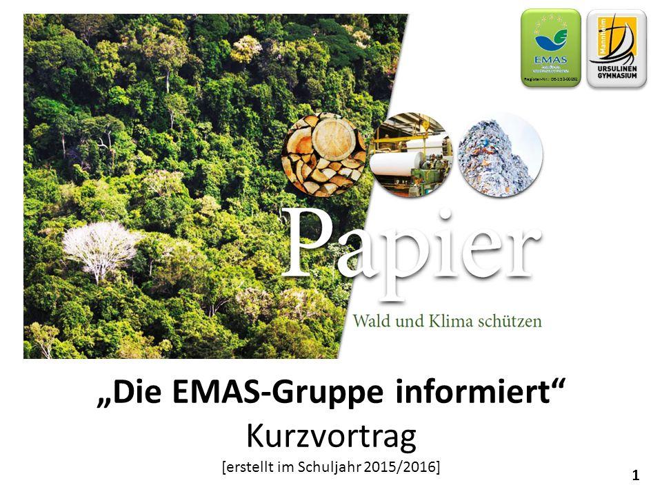 """""""Die EMAS-Gruppe informiert"""