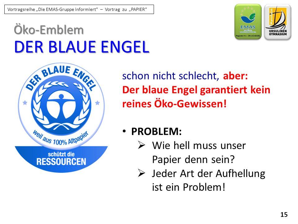 DER BLAUE ENGEL Öko-Emblem schon nicht schlecht, aber: