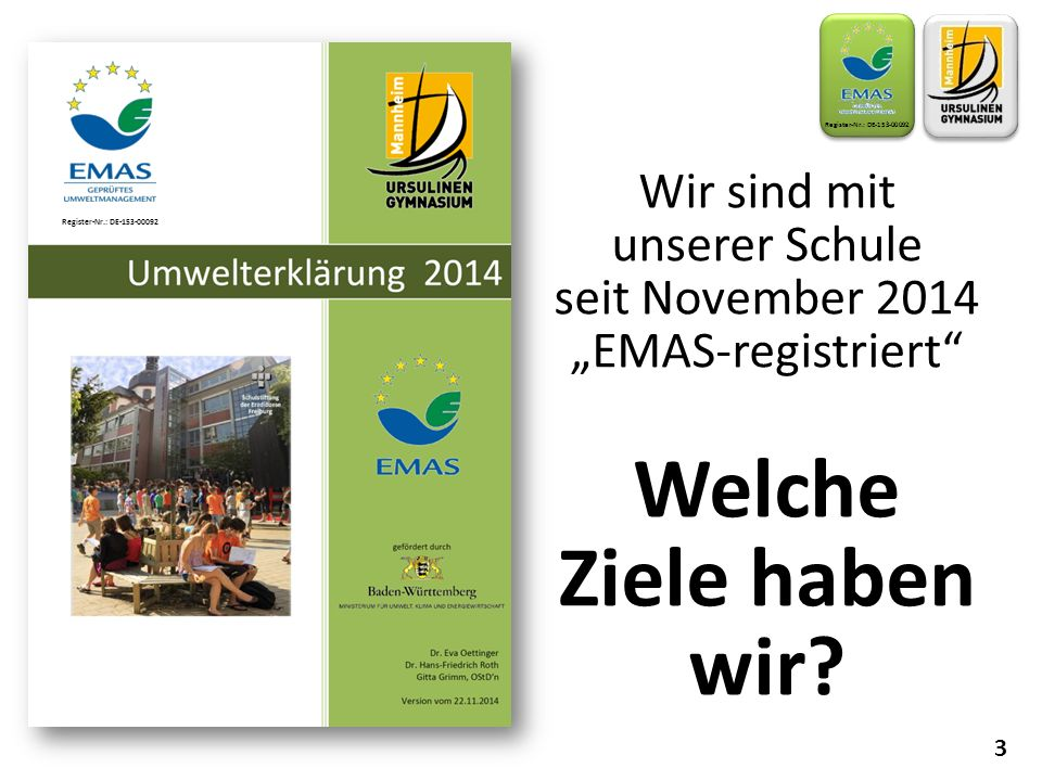 "seit November 2014 ""EMAS-registriert"