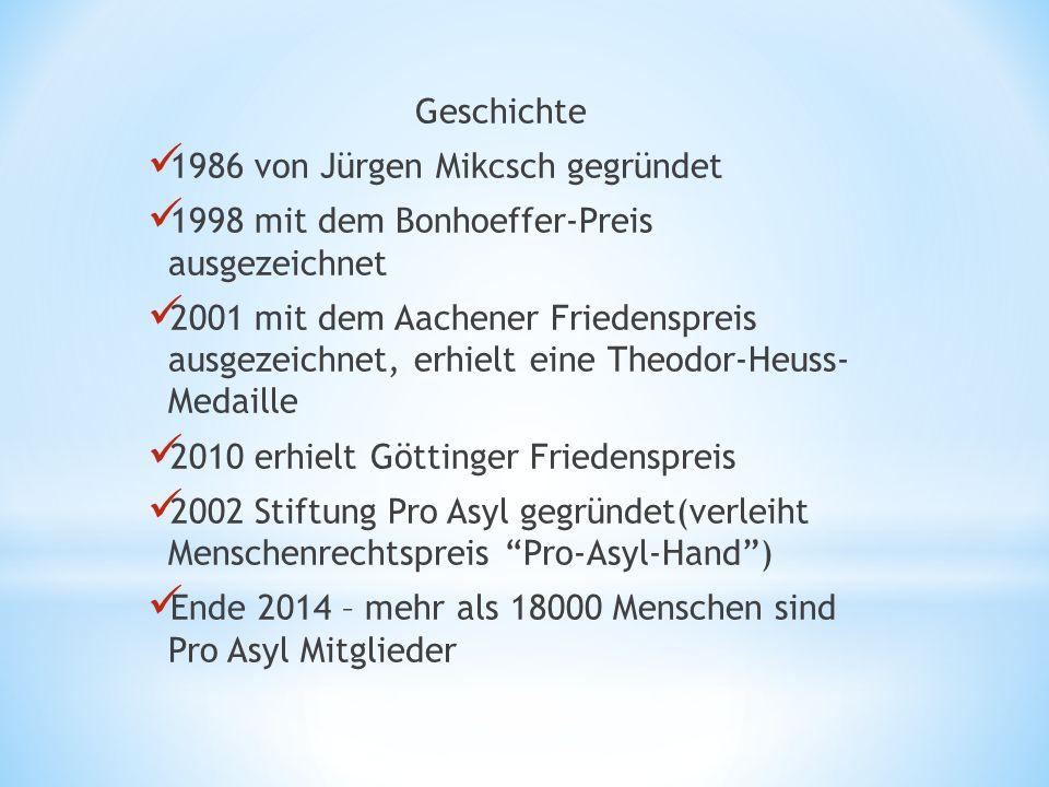 Geschichte 1986 von Jürgen Mikcsch gegründet. 1998 mit dem Bonhoeffer-Preis ausgezeichnet.