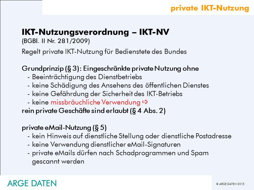 IKT-Nutzungsverordnung – IKT-NV (BGBl. II Nr. 281/2009)
