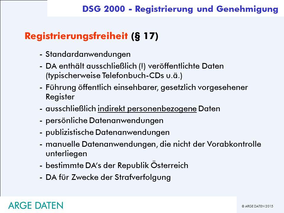 Registrierungsfreiheit (§ 17)
